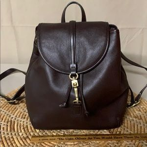 Coach vintage medium size leather backpack